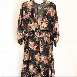 AMERICAN EAGLE-NWOT-Floral Kimono-SZ XL